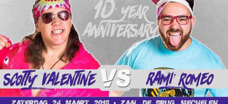 De beslissende veldslag tussen de hometown hero 'Rami Romeo' en zijn Nederlandse nemesis 'Scotty Valentine'.