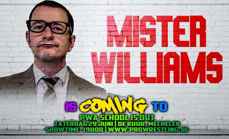 Mr. Williams leid de Student Union naar Mechelen