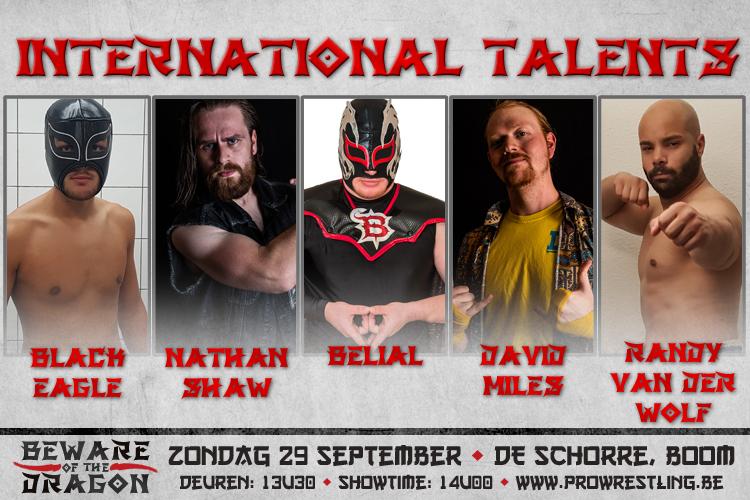 Internationale talenten komen naar Beware of the Dragon