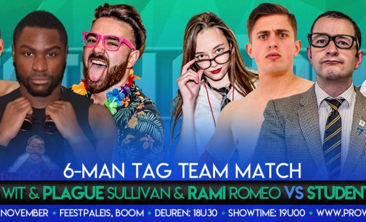 6 Man Tag Team actie tijdens CatchORama