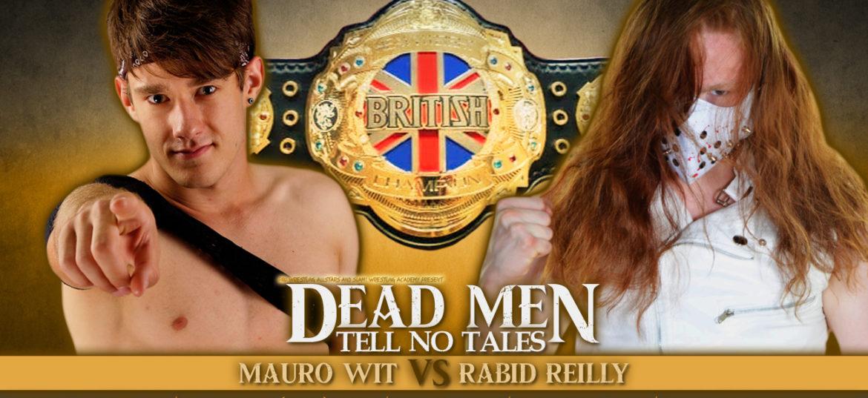 JFPW British Heavyweight kampioenschap op het spel tijdens Dead Men Tell No Tales