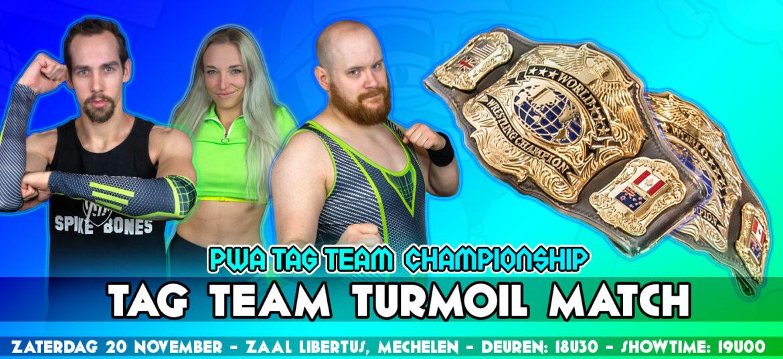 Tag Team Titels op het spel tijdens Tag Team Turmoil wedstrijd